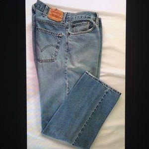 Levi's 505 Regular Fit Straight Leg Zip Fly Jeans